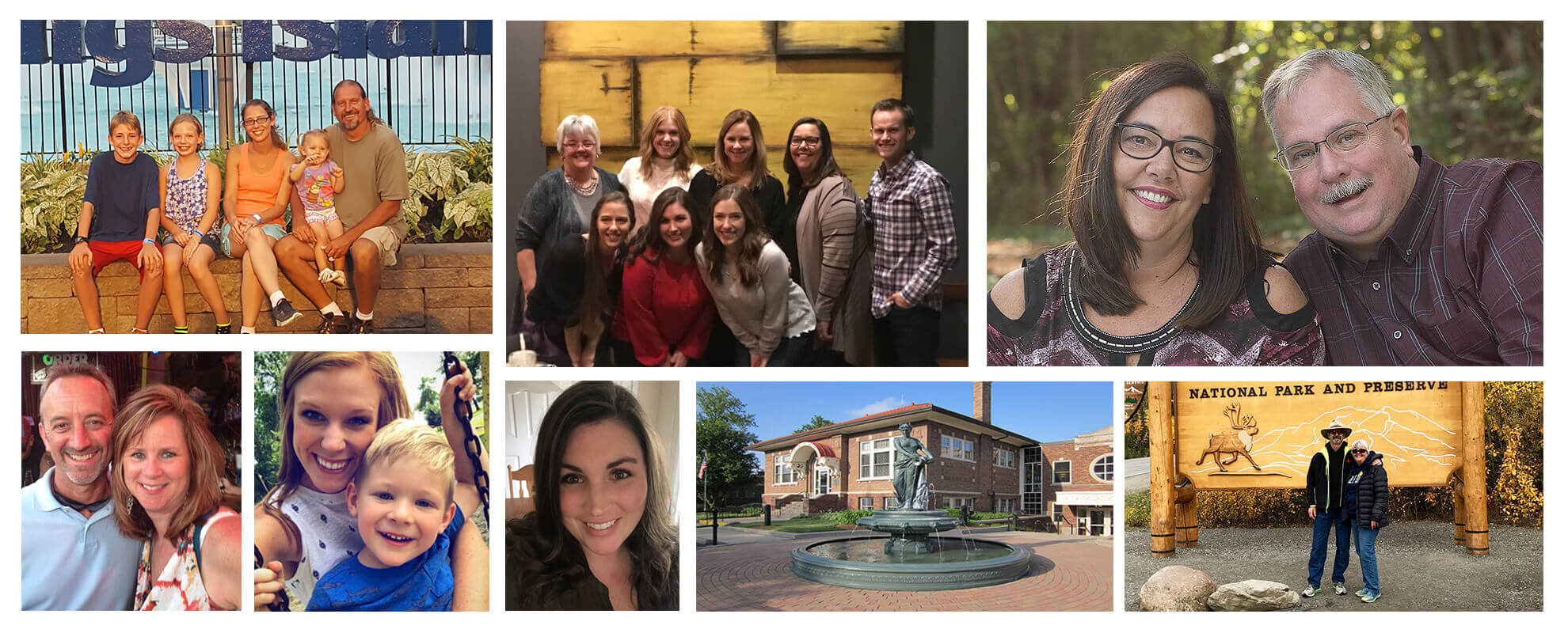 Collage of the Keck Family Dentistry team